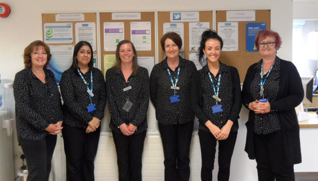 Bramcote Surgery Reception Team May 2018